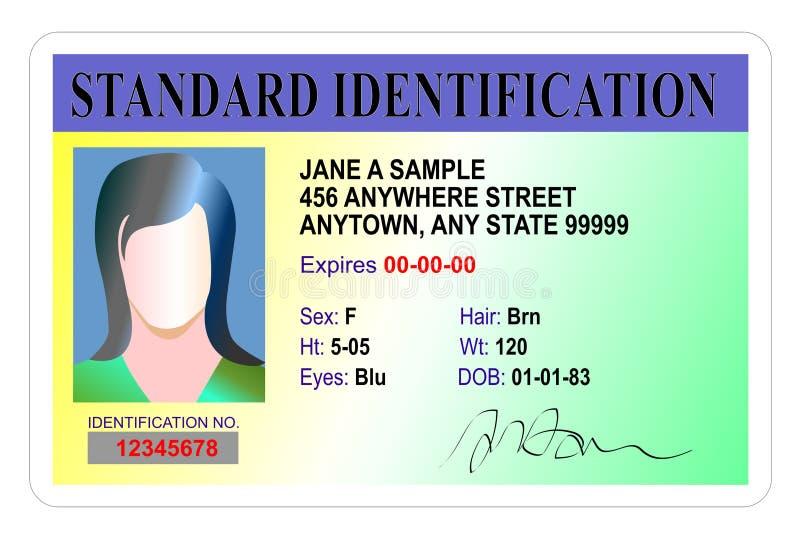 Download Standard Identification Card Stock Illustration - Image: 7824583