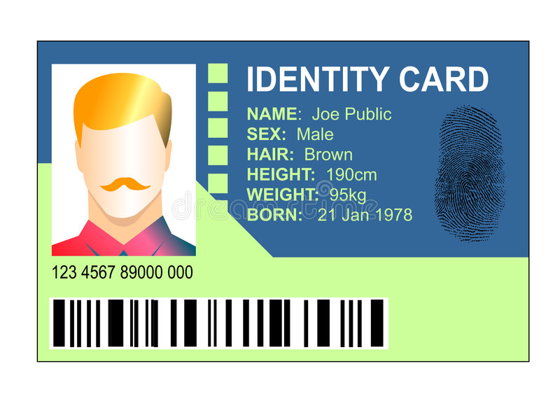 Standard Identification Card Royalty Free Stock Photography
