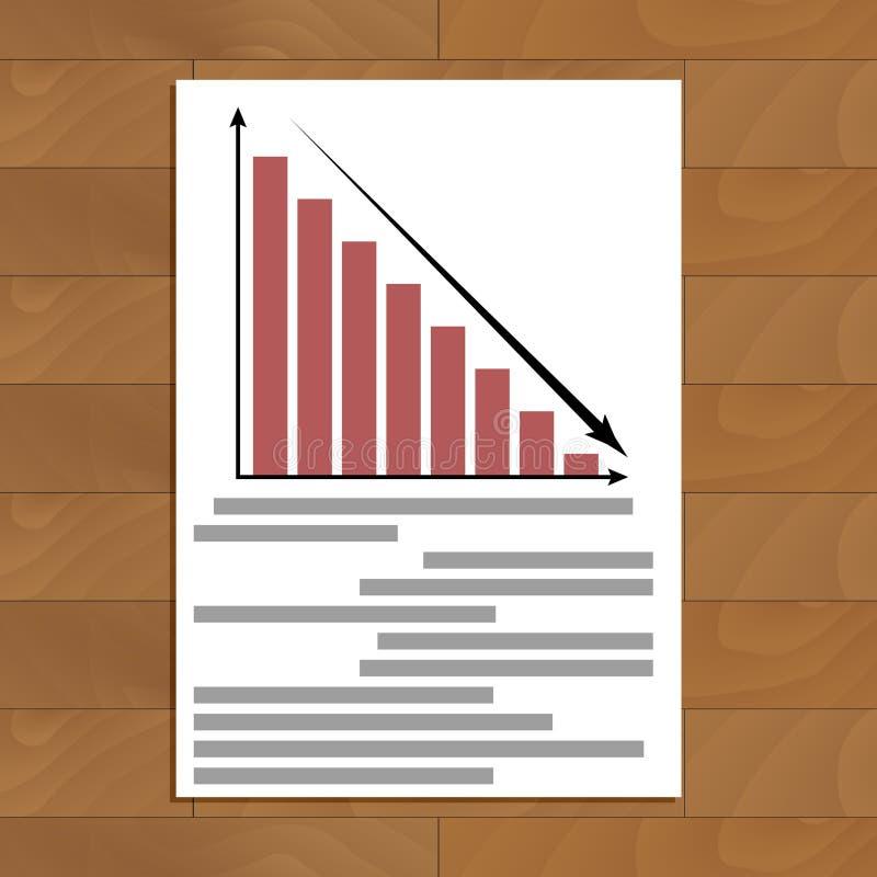 Standard och konkurs stock illustrationer