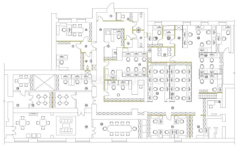 Download Standard Office Furniture Symbols Set Stock Vector - Image: 83719037