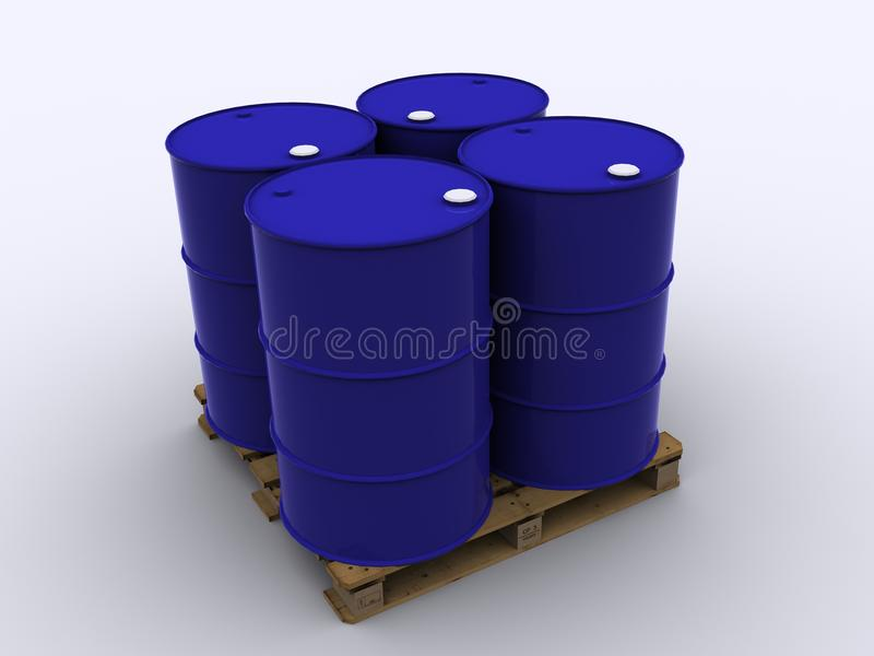 Download Standard Palett For Chemical Logistic Stock Illustration - Illustration: 25225463