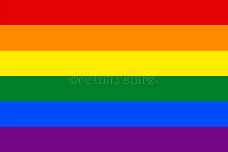 Standard Proportions for Gay Flag. Homosexual stock illustration