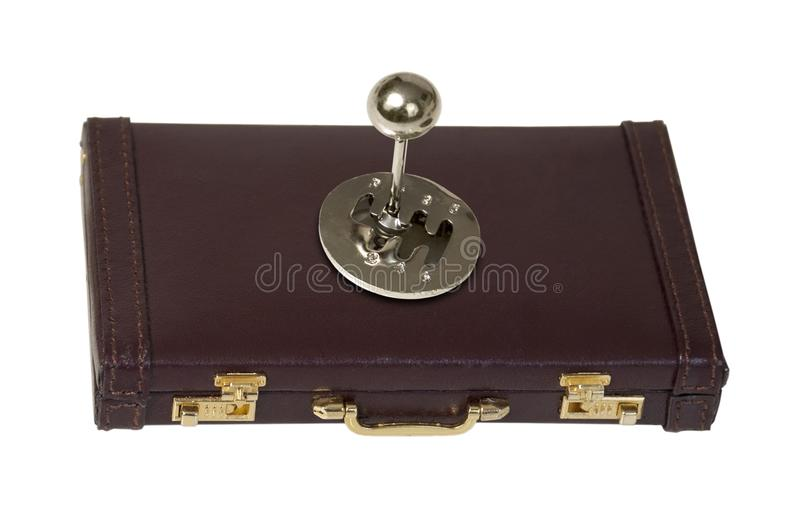 Stick Shift on a Briefcase royalty free stock images