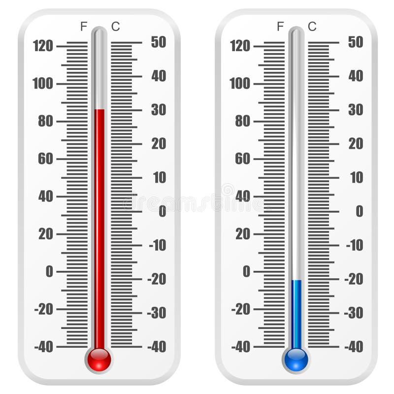 Standard termometer royaltyfri illustrationer
