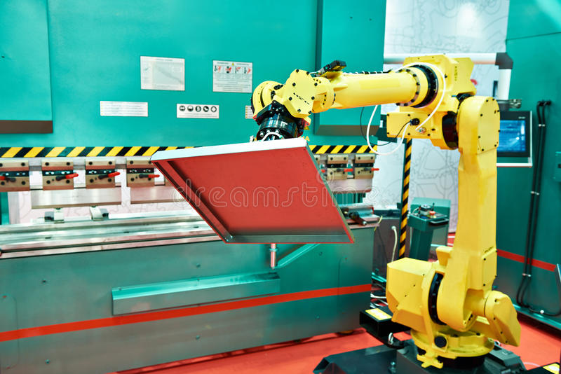 Standard universal industrial robot royalty free stock photography
