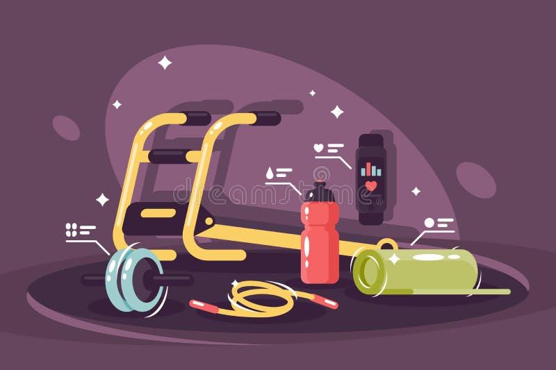 Standard utrustningkonditionklubba royaltyfri illustrationer