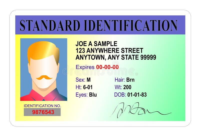 Standardausweiskarte lizenzfreie abbildung