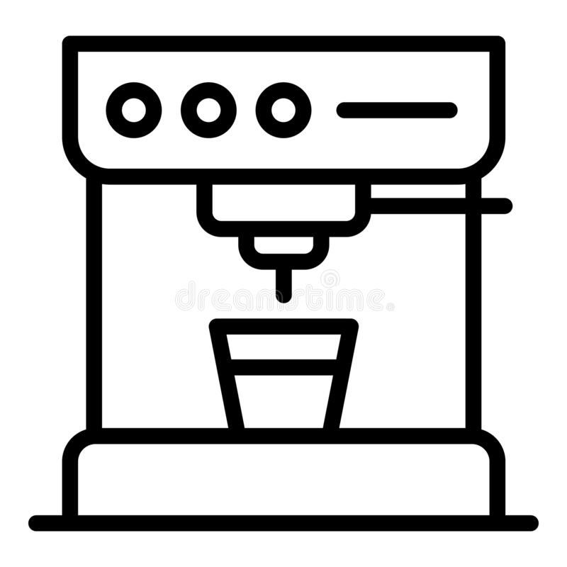Standart coffee machine icon, outline style vector illustration