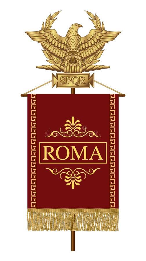 Standart with the inscription Rome. stock illustration