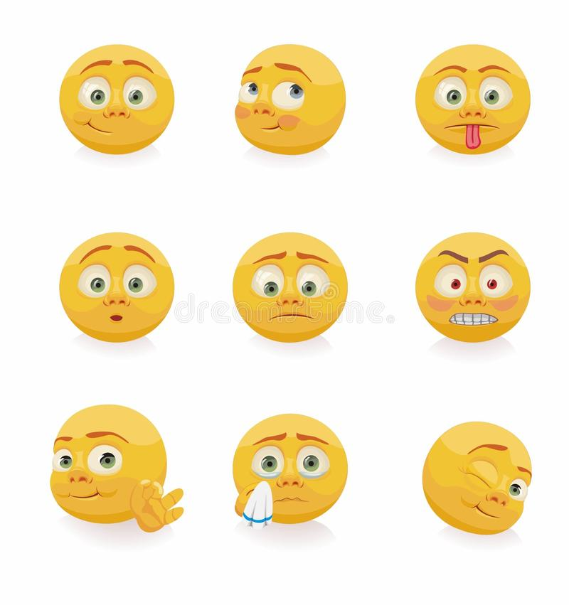 Standart smilies collection vector illustration
