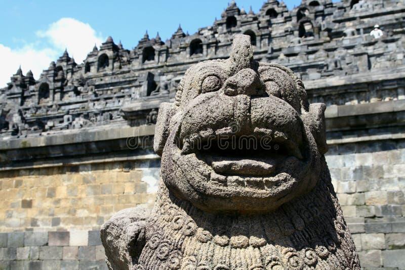 Standbeeld in Borobudur stock afbeelding