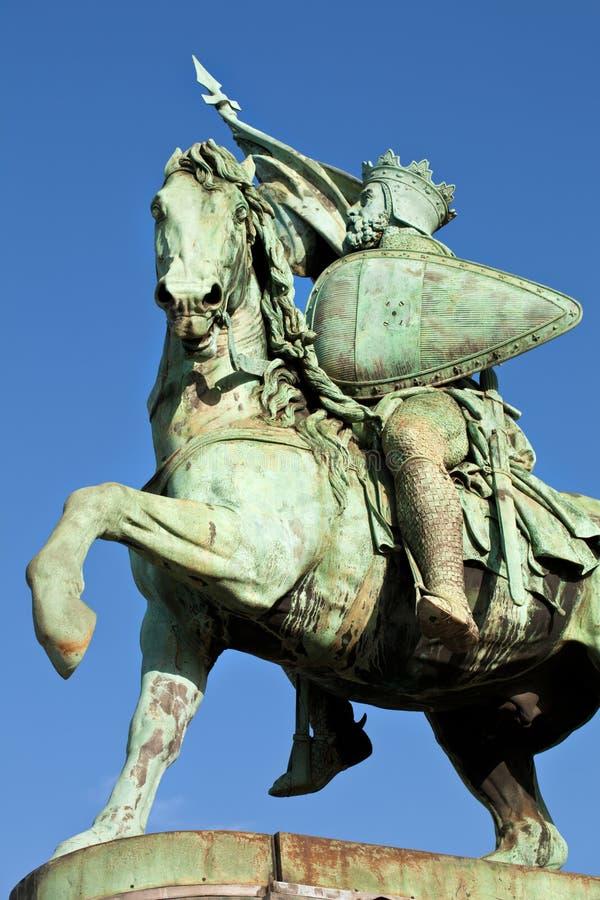 Standbeeld in Brussel royalty-vrije stock afbeelding