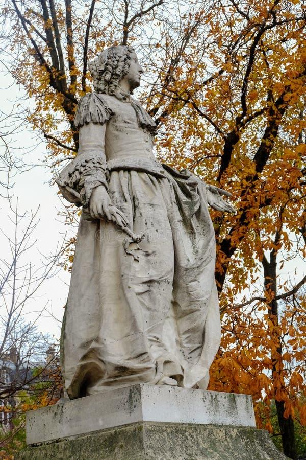Standbeeld in de tuin van Luxemburg van het Paleis van Luxemburg, Parijs, stock foto's