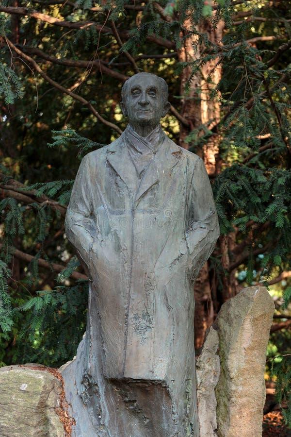 Standbeeld in de tuin van Luxemburg van het Paleis van Luxemburg stock foto's