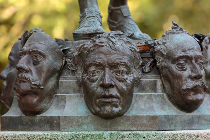 Standbeeld in de tuin van Luxemburg van het Paleis van Luxemburg, Parijs stock foto's