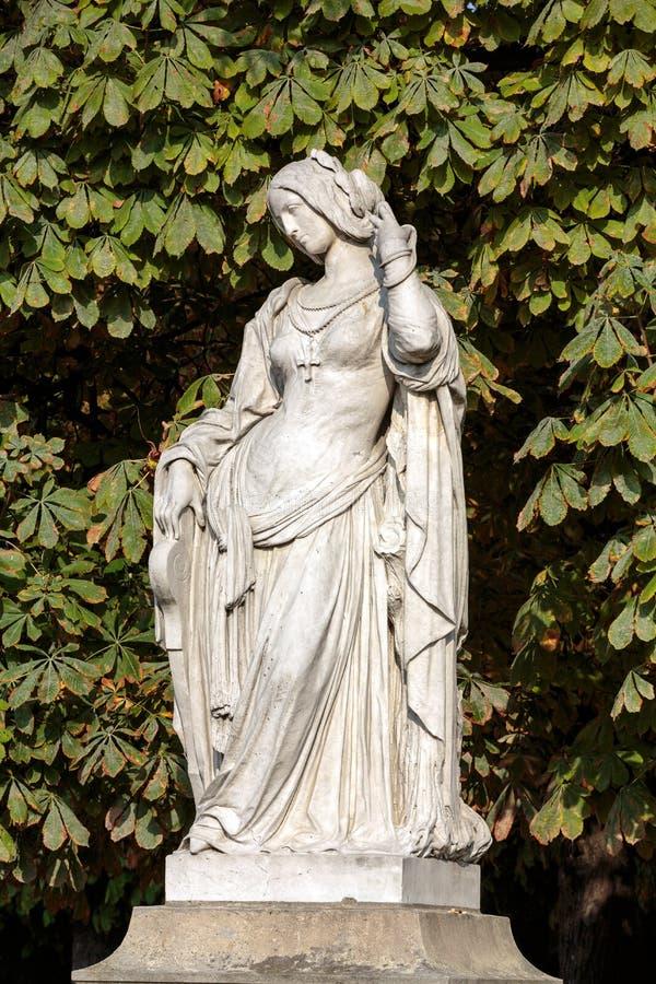 Standbeeld in de tuin van Luxemburg van het Paleis van Luxemburg, Parijs royalty-vrije stock fotografie