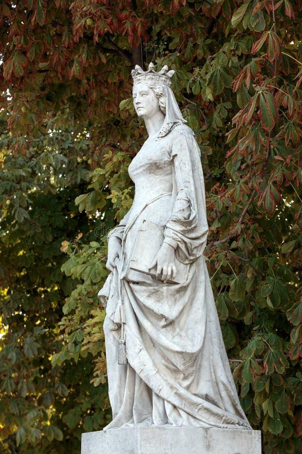 Standbeeld in de tuin van Luxemburg van het Paleis van Luxemburg, Parijs royalty-vrije stock foto
