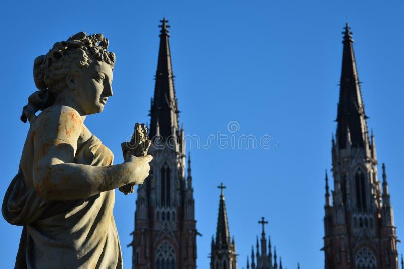 Standbeeld ` Gr Verano ` in Moreno Square stock foto