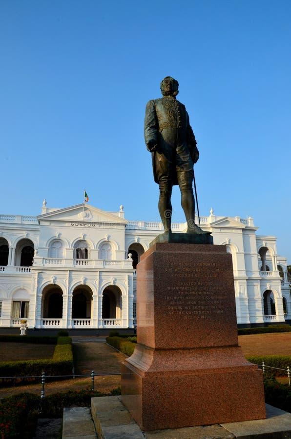 Standbeeld Gregory National Museum Colombo Sri Lanka stock foto's
