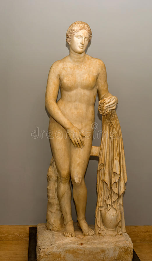 Standbeeld in het museum van Vatikaan royalty-vrije stock afbeeldingen
