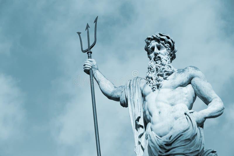 Standbeeld Neptun royalty-vrije stock foto's