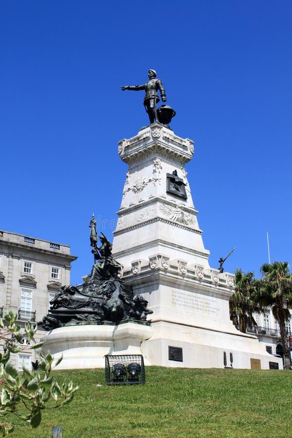 Standbeeld in Porto stock afbeelding