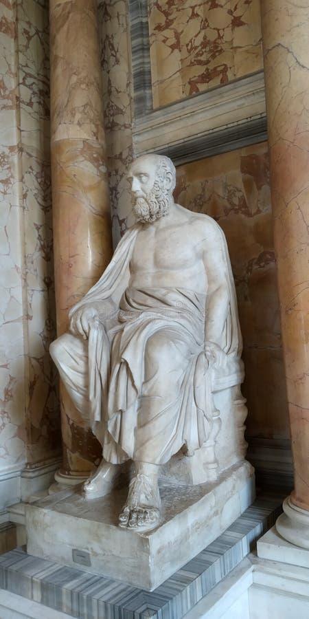 Standbeeld van à ‰ lio Aristides bij het Museum van Vatikaan, Rome, Italië royalty-vrije stock foto's
