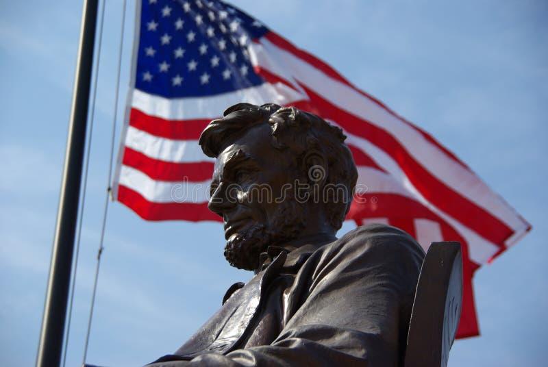 Standbeeld van Abraham Lincoln in Provincie Hardin stock afbeelding