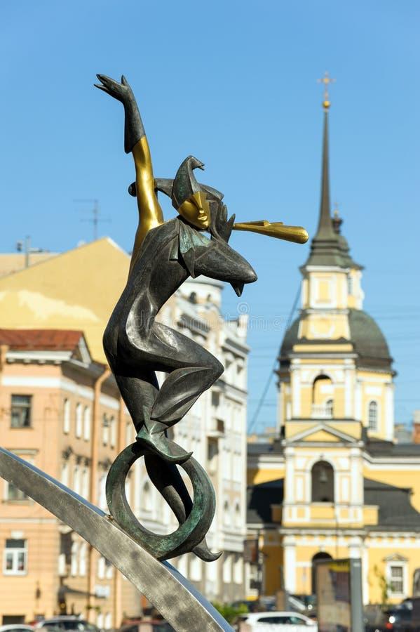 Standbeeld van acrobaat, St. Petersburg, Rusland royalty-vrije stock afbeelding