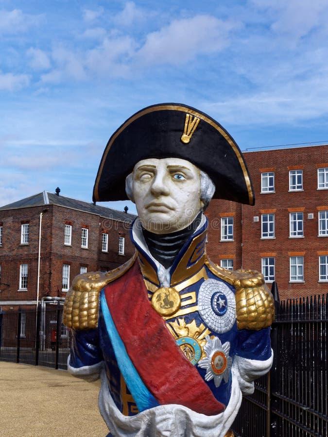 Standbeeld van Admiraal Horatio Lord Nelson royalty-vrije stock foto's