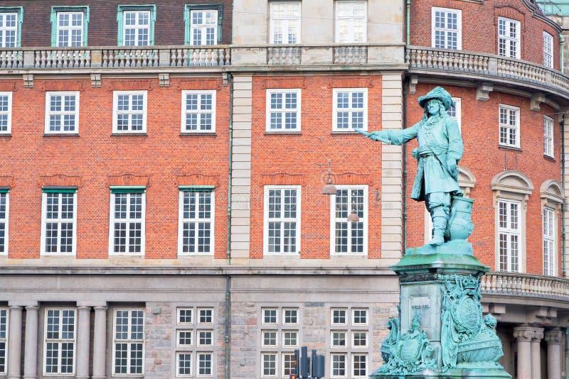 Standbeeld van admiraal Niels Juel in Kopenhagen royalty-vrije stock foto