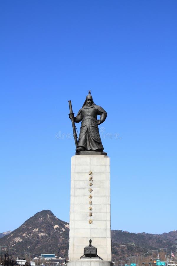 Standbeeld van Admiraal Yi Sun-Sin royalty-vrije stock foto