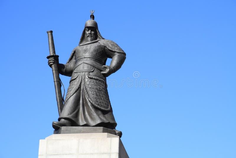 Standbeeld van Admiraal Yi Sun-Sin royalty-vrije stock fotografie