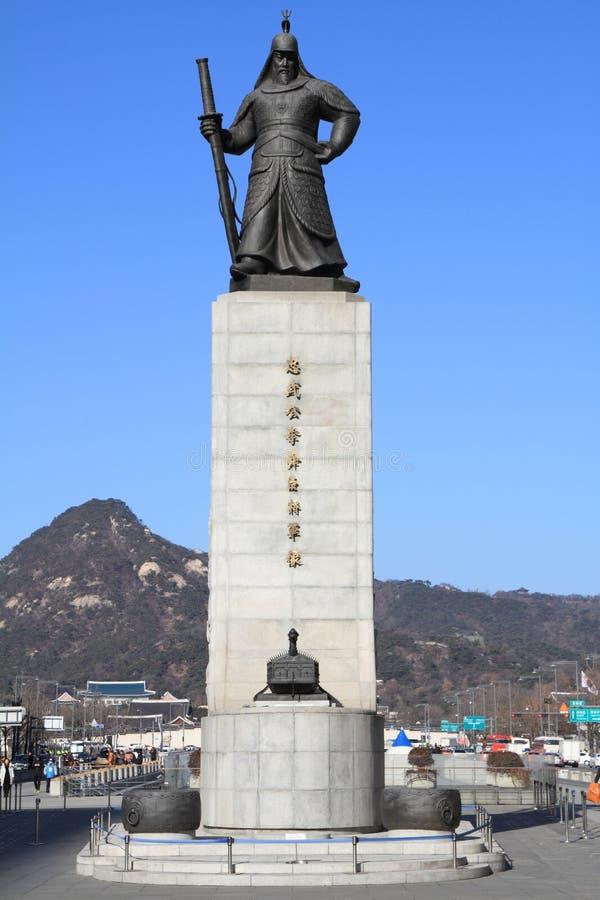 Standbeeld van Admiraal Yi Sun-Sin stock foto