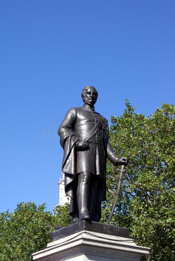 Standbeeld van Algemeen Sir Henry Havelock, Trafalgar Square, Londen, Engeland royalty-vrije stock foto's