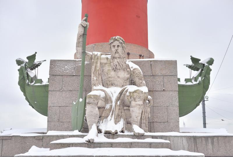 Standbeeld van allegorie van de Dnieper-rivier royalty-vrije stock foto