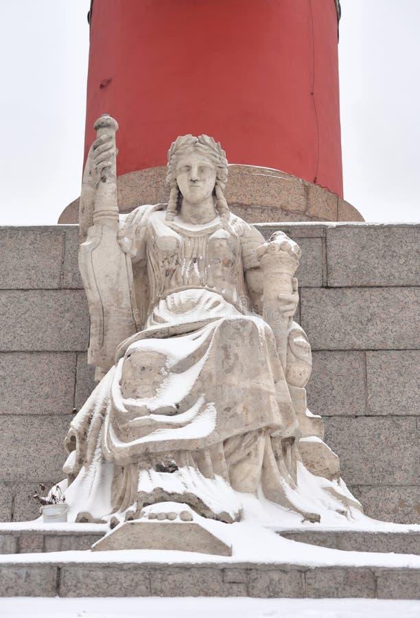 Standbeeld van allegorie van de Volga rivier royalty-vrije stock afbeelding