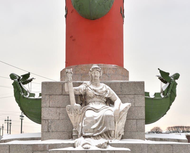 Standbeeld van allegorie van de Volga rivier stock foto