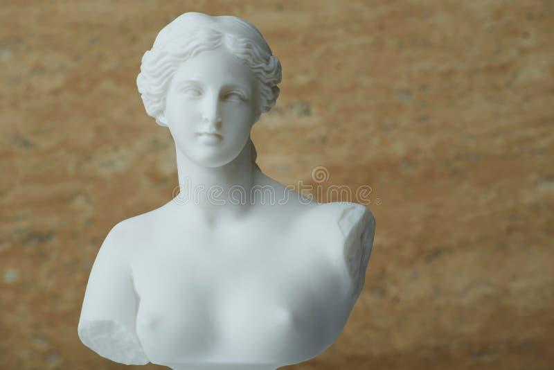 Standbeeld van Aphrodite, oude Griekse god van schoonheid stock foto