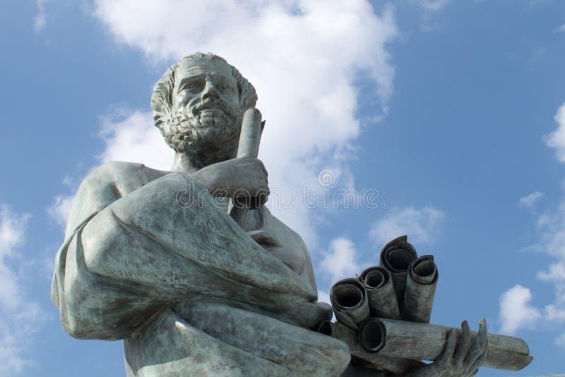 Standbeeld van Aristoteles royalty-vrije stock foto's