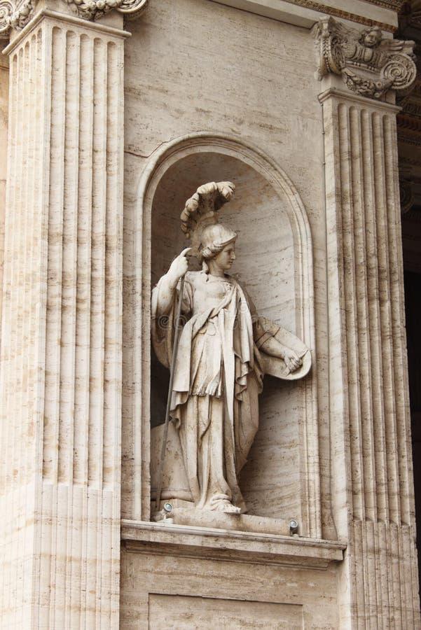 Standbeeld van Athena stock afbeelding