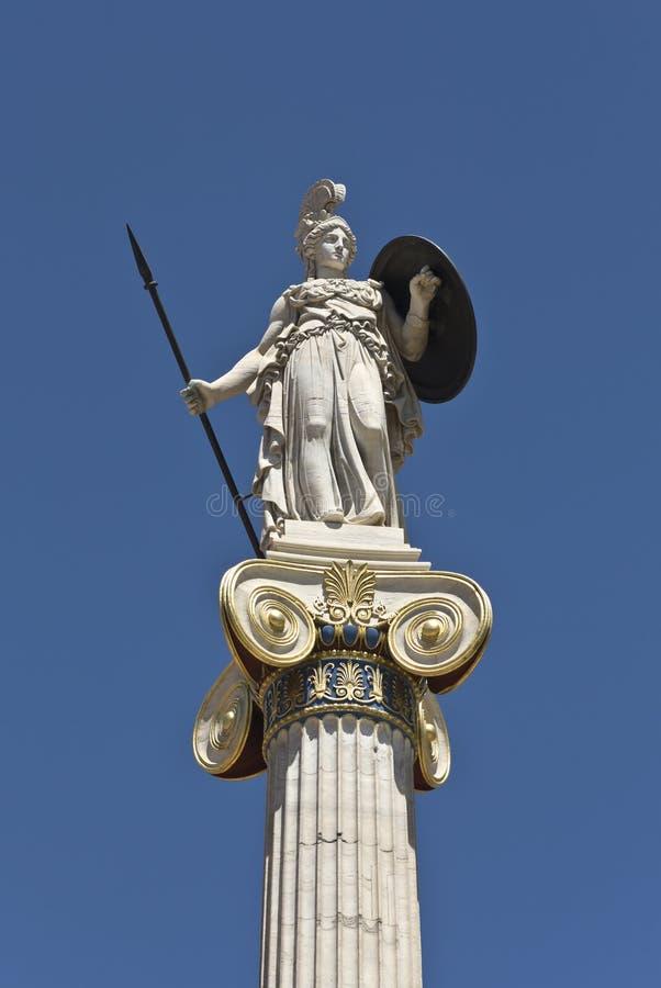 Standbeeld van Athena in Athene stock foto's