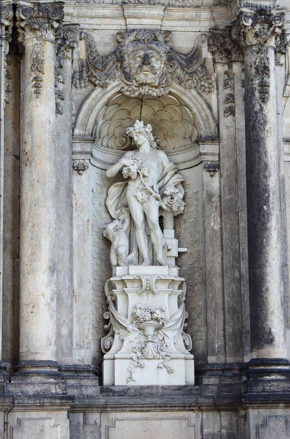 Standbeeld van Bacchus royalty-vrije stock fotografie