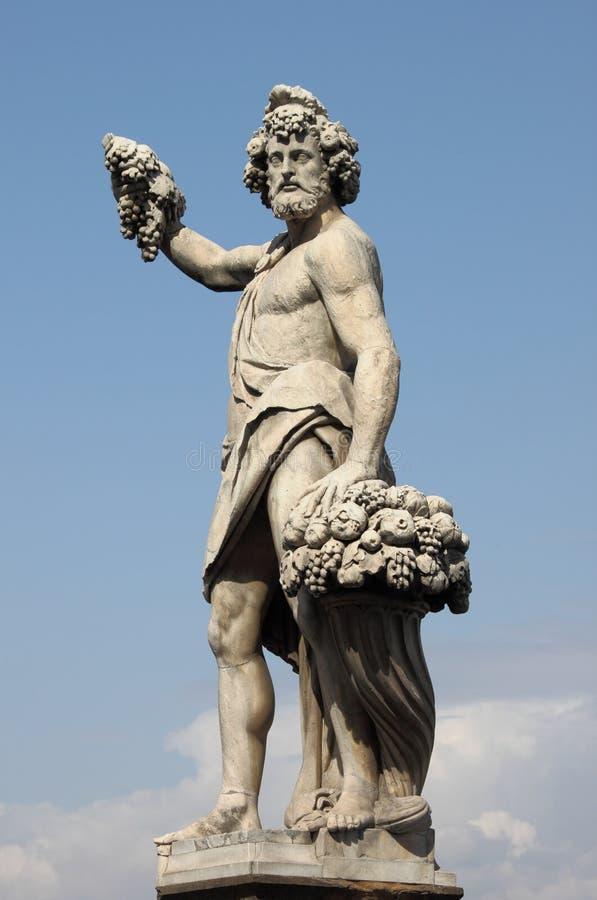Standbeeld van Bacchus royalty-vrije stock afbeeldingen