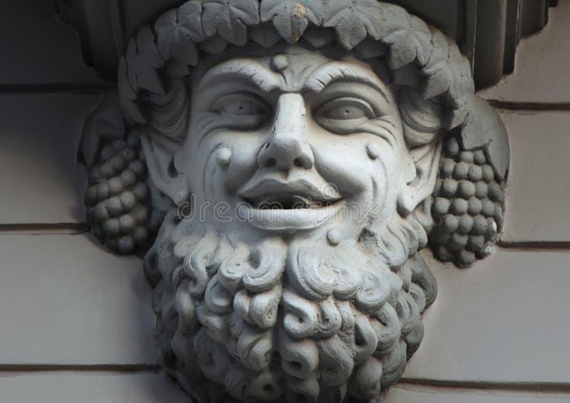 Standbeeld van Bacchus (Dionysus) stock fotografie