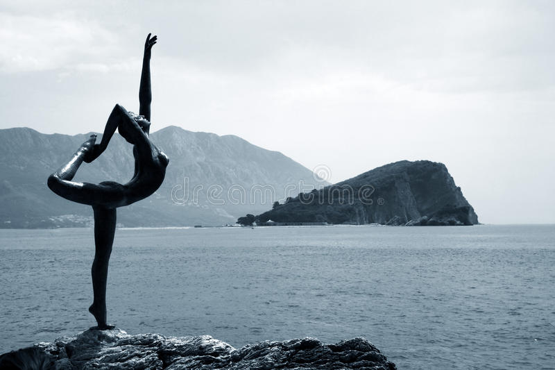 Standbeeld van ballerina van Mogren royalty-vrije stock afbeelding