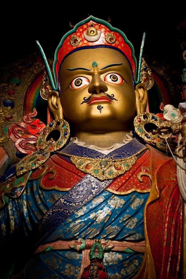 Standbeeld van Boeddhistische goeroe Padmasambhava   stock afbeelding