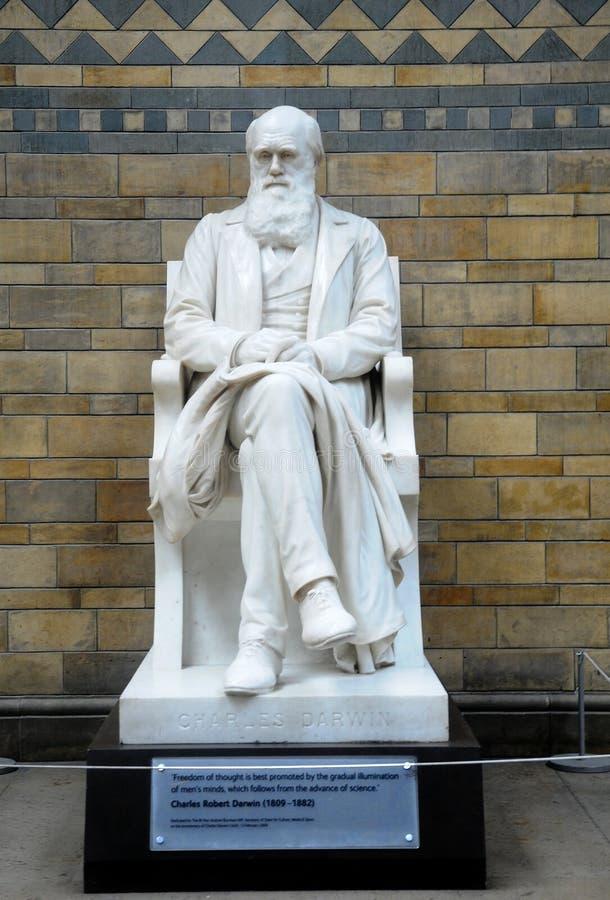 Standbeeld van Charles Darwin stock foto