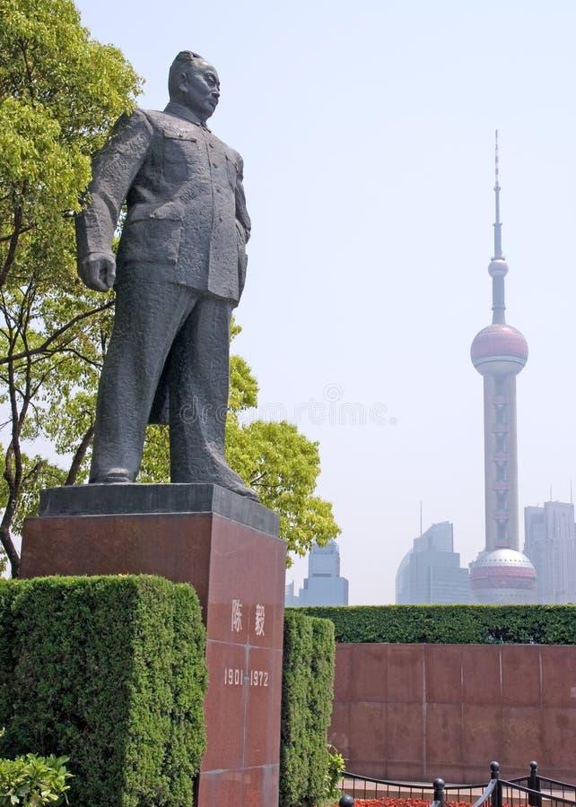 Standbeeld van Chen Yi stock foto's