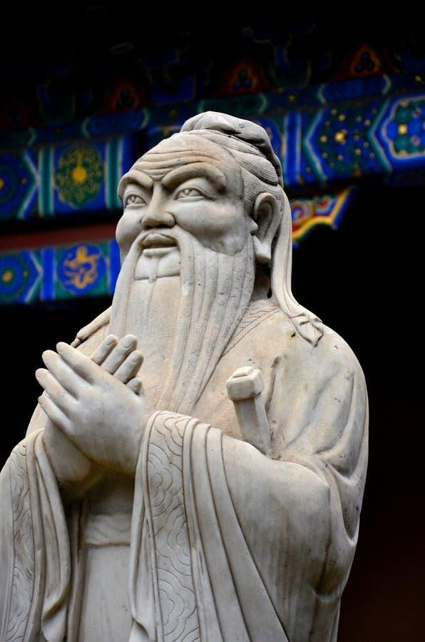 Standbeeld van Chinese filosoof Confucius Beijing China royalty-vrije stock afbeeldingen